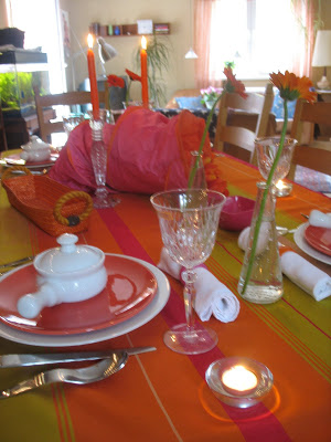 bright colors on this tablescape thursday!