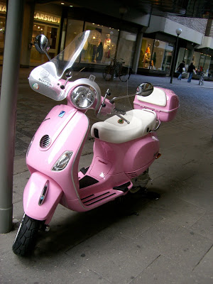 a pink ride