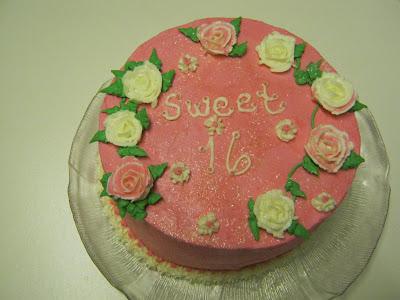 A sweet pink cake
