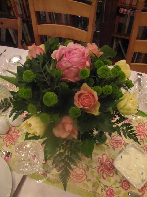 One very big, beautiful pink rose