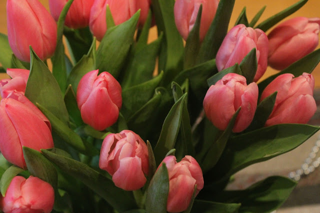 Tulips are pink!